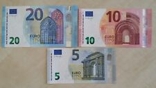 EUROPEAN UNION 20 10 5 Euro Set Draghi x 3 UNC Banknotes