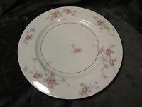 """Theodore Haviland GLORIA Dinner Plate 10 5/8"""" New York Pink / Yellow Flowers"""