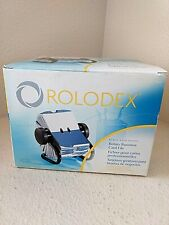 Rolodex Black Rotary Business Card File With 200 Sleeved Cards 2 58 X 4 New