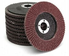 10x Disque à lamelles en abrasif support fibre de verre Grain 125x22,2mm / P60