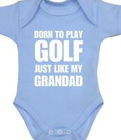 BabyPrem Boys Girls Baby Clothes GOLF GRANDAD Slogan Bodysuit Vest One Piece