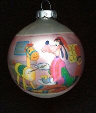 Vintage Disney Glass Christmas Tree Ornament Ball Pink GOOFY
