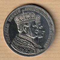 PRUSSE 1 Thaler 1861 - Wilhelm couronnement de Guillaume Ier et Augusta - SPL++