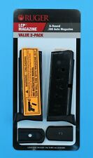 NEW Ruger LCP Pistol 380 .380 6 RD Round Magazine Value 2-Pack 90643 OEM