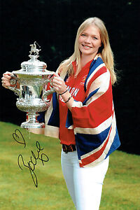 Jodie KIDD SIGNED Autograph 12x8 Photo AFTAL COA Sexy Model POLO Cup