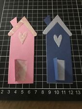 "Scrapbooking Die Cuts House / Home / New Home Shape "" X 2 Lot 3"