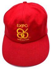 WORLD EXPO 1986 VANCOUVER red adjustable cap / hat - read description