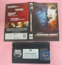 VHS film THE MANCHURIAN CANDIDATE Denzel Washington Meryl Streep (F161) no dvd