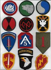 US ARMY MIXED MILITARY PATCH LOT OF 12 MERROWED EDGE FULL COLOR