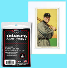 50 BCW TOBACCO CARD INSERT 4MIL SLEEVES Clear Poly Allen Ginter Baseball T-206
