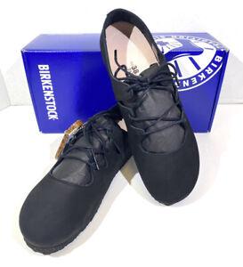 Birkenstock Rye Women's Size 7 (EU38)N Fit Black Leather Ballet Shoes