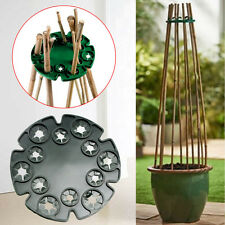 Bamboo Cane Wigwam Sticks Holder Plant Flower Fruit Vine Bean Support Tray Plate