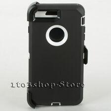 iPhone 7 Plus / iPhone 8 Plus Case w/Clip Fits Otterbox Defender (Black/White)