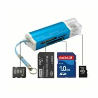 US 4 in 1 USB 2.0 Memory Card Reader For SDHC TF Micro SD MMC MS M2 Slot For PC