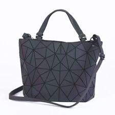 Women Luminous Briefcase Diamond Geometry Quilted Shoulder Bags Folding Handbags