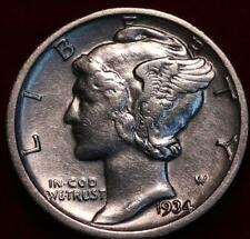 Uncirculated 1934-D Denver Mint Silver Mercury Dime