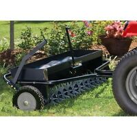"""Industrial 40"""" Aerator & Spreader Combo - 132 Spikes - 120 lbs Cap - Commercial"""