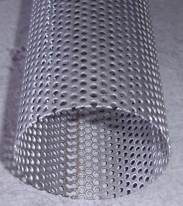 """Exhaust Perforated Stainless Steel Tube 3"""" x 500mm"""