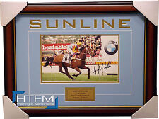 Sunline Signed Horse Racing 2000 Cox Plate Photo Framed Jockey Greg Childs