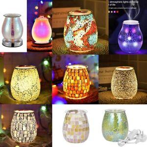 Electric Wax Melt Burner Light Aroma Glass Firework Touch Lamp Diffuser Warmer~