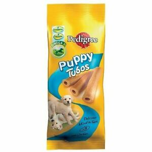 Pedigree Puppy Dental Tube Treats Tasty Kind to Teeth Dog Stick Food 3 Pack
