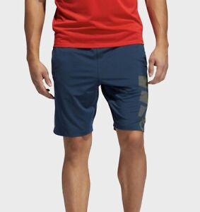 Adidas 4k_SPR RFT Sport 3 Stripe Men's Athletic Performance Shorts Blue Training