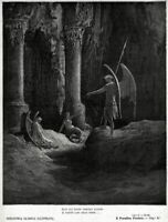 Satana alle porte dell'inferno. Paradiso Perduto. Milton. + Passepartout. 1881