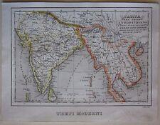 1845 CARTA IMPERO ANGLO INDIANO Marmocchi British Raj India Pakistan Myanmar