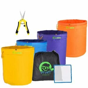 5-Gallon 4 Herbal Bubble Hash Bags Ice Essence Extraction Kit with Free Press Sc