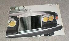 Rolls Royce Silver Wraith 2 Brochure 1977