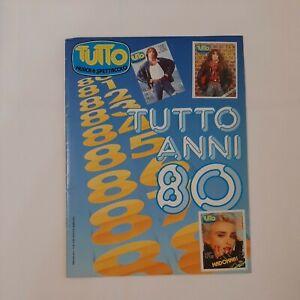 ALBUM FIGURINE TUTTO ANNI 80 COMPLETO 100% RARISSIMO !