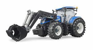 Bruder 03121 New Holland T7.315 mit Frontlader Traktor Bagger Radlader Modell