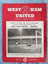 1955 - LONDON FA CUP FINAL PROGRAMME - WEST HAM UTD v ARSENAL - 54/55