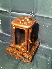 Grablampe, Grablaterne aus Bronze. Mit schönem Rosenmotiv !!!