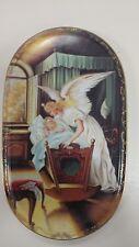 Bradford Exchange Annaburg 1995 Guardian Angel with Child Oval Plate