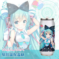 Anime Vocaloid Hatsune Miku Stainless Steel Thermos Cup Vacuum Mug Water Bottle