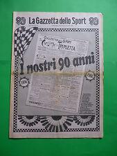 La Gazzetta dello Sport anniversario I nostri 90 anni 1896-1986 novant'anni