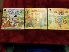 Lot of 3 Walt Disney's See Hear Read Collectible Records and Books 24 pg 33 1/3