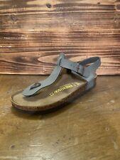 Women's Birkenstock Kairo Mocca Grey Birkibuc ankle strap thong sandals 39 $129