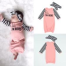 Baby Girl Boy Cotton Gown Outfit Newborn Pajamas Set Sleepwear Baby Night Dress
