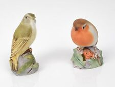 Royal Worcester China Robin (3197) and Wood Warbler (3200) Bird Figures