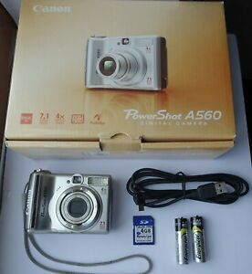 Canon PowerShot A560 7.1MP Digital Camera  + 4 GB Memory Card