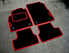 Black/Red LHD Car Mats to fit Opel Astra J GTC (2009-2015) + GTC Logos