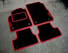 Black/Red LHD Car Mats to fit Opel Astra J GTC (2009-2015) + GTC Logos