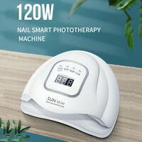 120W Nail Lamp UV LED Light Gel Polish Nail Dryer Manicure Curing Machine Tool