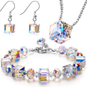 "Heidi Daus ""Daily Double"" Purple Aurora Crystal Necklace Clasp Shortener"