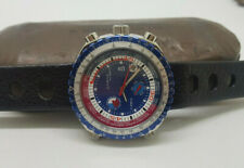 NOS VINTAGE SORNA WORLD TIME BLUE DIAL AUTOMATIC MAN'S WATCH