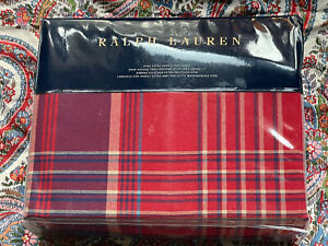 RARE *NEW RALPH LAUREN Norwich Road ~KING Extra ~DEEP FITTED SHEET Marrick PLAID