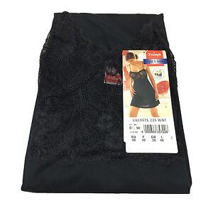 TRIUMPH Petticoat Women Black with Lace Matched Lillyets 50%Cotton 50%Modal