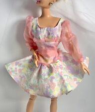 Barbie Pastel Spring Bouquet Doll Dress Fits Tnt & Standard Fashionistas